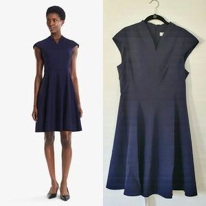 •MM LAFLEUR• Ruth Dress In Deep Indigo Sz …